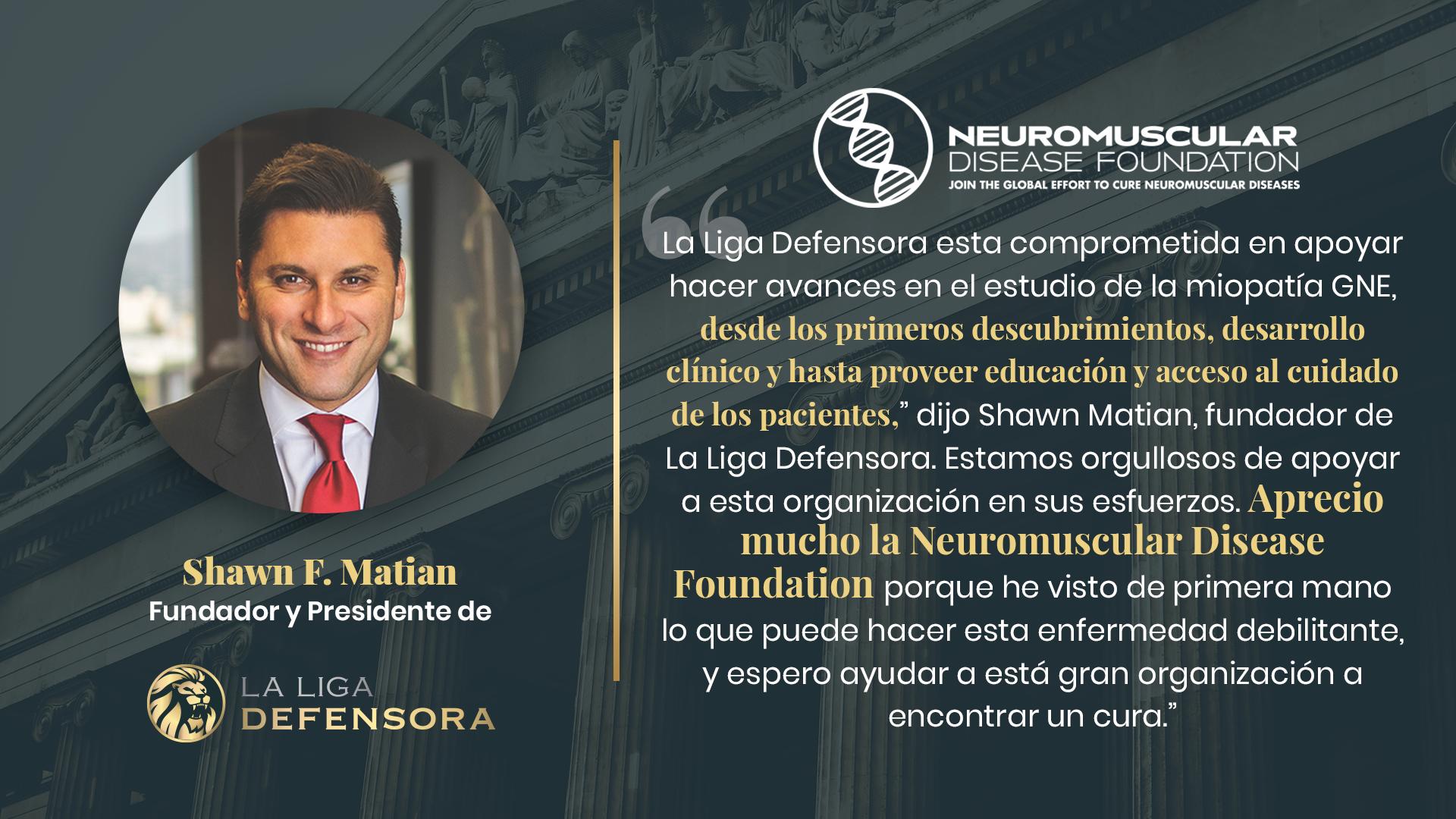 La Liga Defensora hace una donación a la Neuromuscular Disease Foundation
